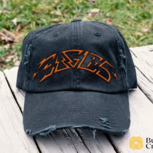 Eagles Embroidered Hat, Distressed Baseball Cap I2D2