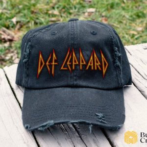 Def Leppard Embroidered Hat, Distressed Baseball Cap - Collection 3D Full Printing I2D2