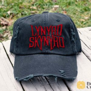 Lynyrd Skynyrd Embroidered Hat, Distressed Baseball Cap - Collection 3D Full Printing I2D3