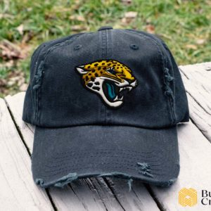 Jacksonville Jaguars Embroidered Hat, Distressed Baseball Cap - Collection 3D Full Printing I4D3