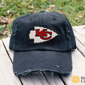 Kansas City Chiefs Embroidered Hat, Distressed Baseball Cap I4D5