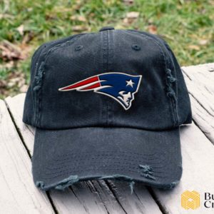 New England Patriots Embroidered Hat, Distressed Baseball Cap - Collection 3D Full Printing I4D5