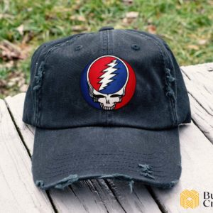 Grateful Dead band Embroidered Hat, Distressed Baseball Cap - Collection 3D Full Printing I2D4