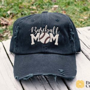 Baseball Mom Embroidered Hat, Distressed Baseball Cap - Collection 3D Full Printing I3D4