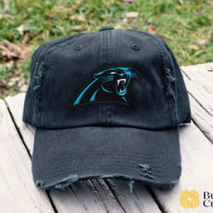 Carolina Panthers Embroidered Hat, Distressed Baseball Cap - Collection 3D Full Printing I4D3