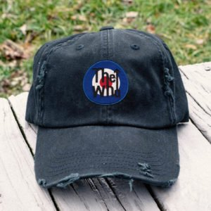 The Who Embroidered Hat, Distressed Baseball Cap I2D3