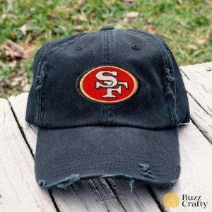 San Francisco 49ers Embroidered Hat, Distressed Baseball Cap - Collection 3D Full Printing I4D2