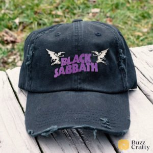 Black Sabbath Embroidered Hat, Distressed Baseball Cap - Collection 3D Full Printing I2D4