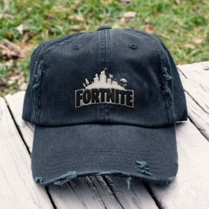 Fortnite Embroidered Hat, Distressed Baseball Cap - Collection 3D Full Printing I1D6